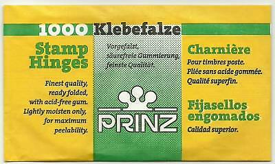 PRINZ 5000 FOLDED STAMP HINGES BULK BUY 5 packs of 1000. Acid Free GUM.