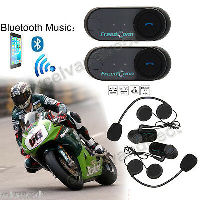 2X Moto Interphone Intercomunicador Motocicleta Casco Bluetooth Auriculares 800M