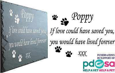 Pet Memorial Slate Plaque, Personalised for your Pets - Add Mutilple Names