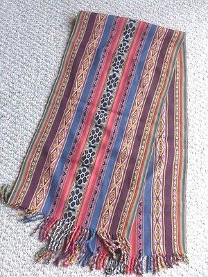 Peruvian Aguayo Table Runner, Scarf or Wall Hanging -  Andean Mountain Textile