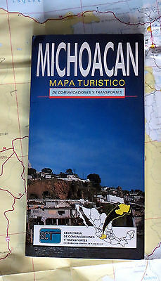 MICHOACAN Mexico***SCARCE out-of-print SCT Road Map, 1994