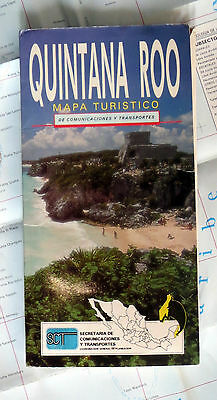 QUINTANA ROO Mexico***SCARCE out-of-print SCT Road Map, 1994