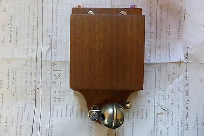 Unusual Wood & Brass Electric Sleigh Doorbell - 3-6 volts (butlers maid)