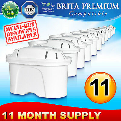 11 x FL402 Replacement Water Filter Compatible with Brita Maxtra Jug Cartridge