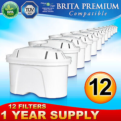 12 x Brita Maxtra Premium Compatible Water Filter Replacement Refill Cartridge