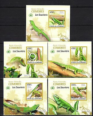 Comoros 2009 Lizards Imperf. DeLuxe (Glossy Cardboard) MNH