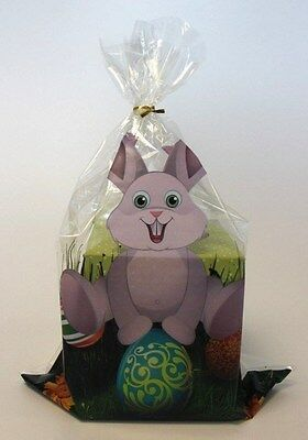 Easter bunny printed cellophane sweet/chocolate treat goody bags *10 pack*
