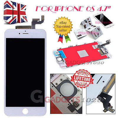 """For IPhone 6S 4.7"""" Display Touch Screen Digitizer LCD Replacement Assembly White"""
