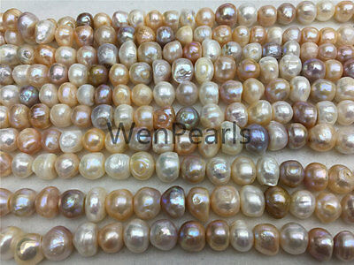 AA 11-14mm VERY large Misc Color baroque freshwater pearl,2mm 3mm big hole
