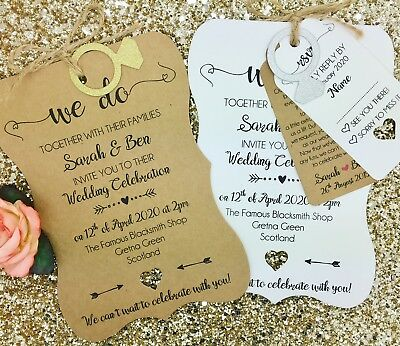 Vintage Shabby Chic Personalised Wedding Invite Day/ Evening