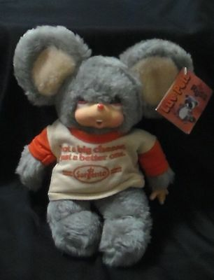 """Vintage 1970 Moppy 12"""" Mouse Plush Russ Berrie LUV PETS Thumbsucker Sargento NWT"""