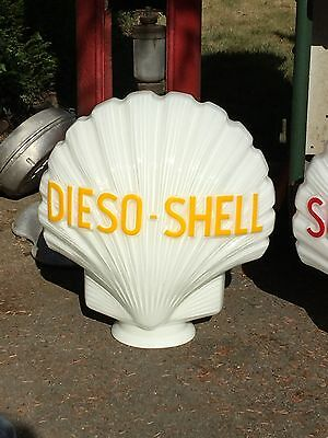 reedition opaline Dieso Shell  pour  pompe a essence ancienne     -