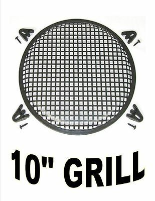 10 Inch Waffle Speaker Sub Woofer Metal Grills With Clips And Screws Dj-Car-Home