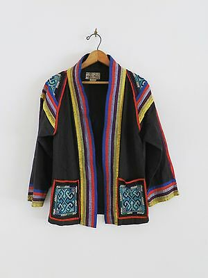 RARE Vtg 50s 60s Marco Polo World Traveler Thai Embellished Robe Kimono Jacket
