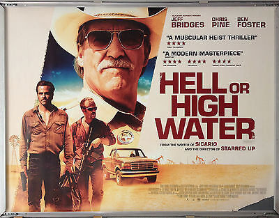 Cinema Poster: HELL OR HIGH WATER 2016 (Quad) Ben Foster Chris Pine