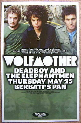 WOLFMOTHER 2006 Gig POSTER Portland Oregon Concert