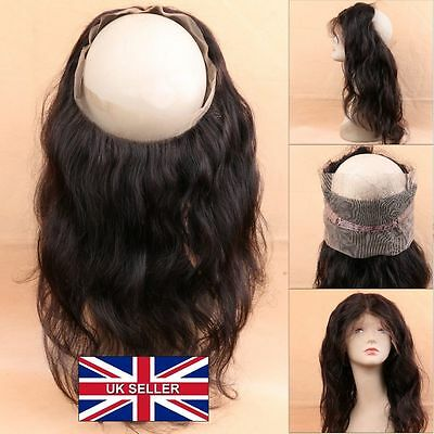 360 lace frontal closure 100% human hair Brazilian 16 inches bodywave