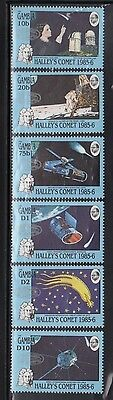 Gambia 650-55 Halley's Comet Mint NH