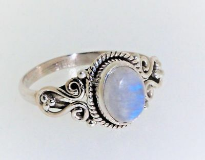 Sterling Silver 925 ring Moonstone UK + US sizes