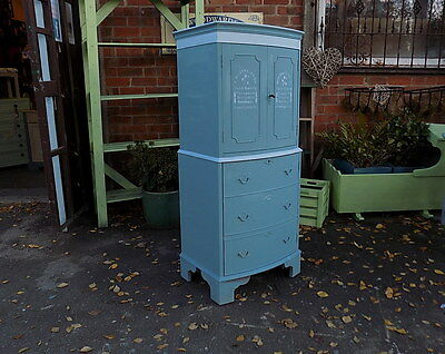 Painted  Shabby Chic Drinks Cabinet Cupboard