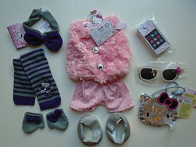 New Chad Valley Design A Bear Hello Kitty Set Of Clothes & 2 Sets Of Accessories