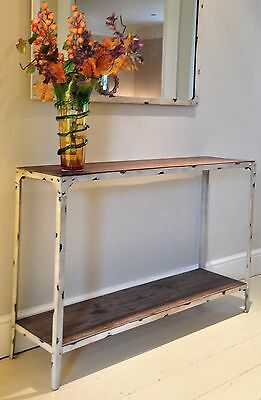 Console Table Urban Vintage Industrial Rustic Shabby Chic Antique White