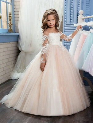 Flower Girl Dress Bridesmaid Wedding Communion Pageant Party Graduation Dress