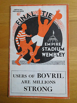 FA Cup Final 1934 Portsmouth v Manchester City - Very good condition programme