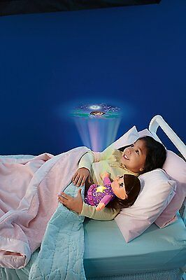 DORA the Explorer Dream&Glow DOLL Good Night cuddly projector Fisher Price