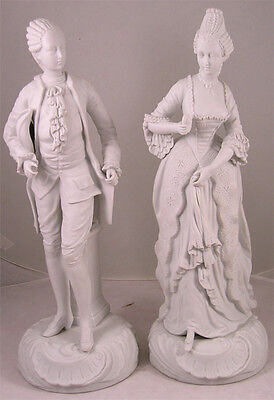 Pair French Style Parian Porcelain