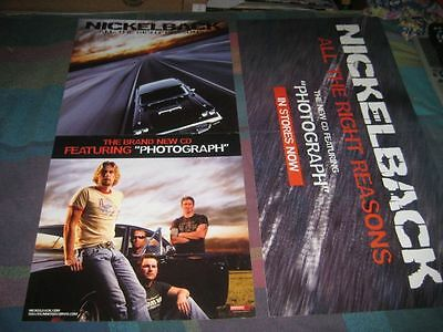 NICKELBACK-(all the right reasons)-1 POSTER-2 SIDED-12X24-MINT-RARE