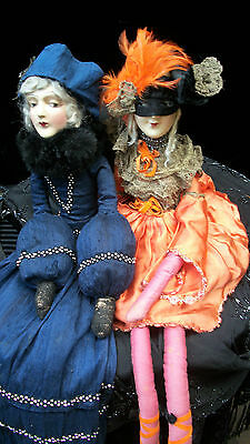 Anita All Hallows' Eve Boudoir Bed Dolls Antique/ Vintage