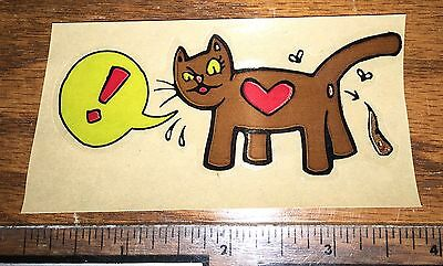 "Arlo Eisenberg Cat Poop Heart Sticker 4""x2"""