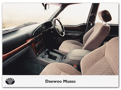 Daewoo Musso Press Release Photograph