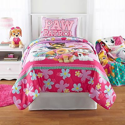 Paw Patrol Girl Twin/Full Comforter and 4Pc Full Sheets  (5PC) Bedding Set