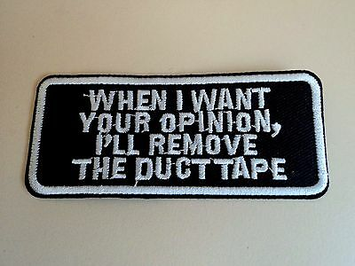 New Fun Biker Duct Tape Embroider Cloth Patch Applique Badge Iron Sew On