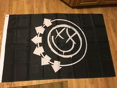 Blink 182 Flag Black/White. Mint Condition Banner