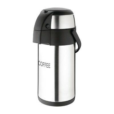 Olympia Pump Action Airpot 3Ltr Coffee Tea Espresso Cold Hot Water Thermos Flask