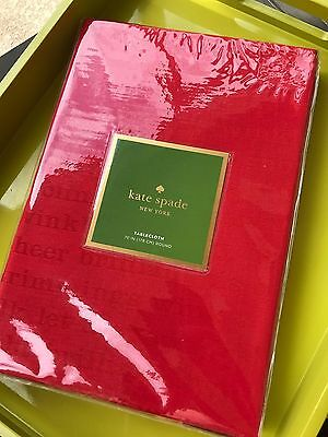 New Genuine kate spade Holiday Tablecloth (70 Inch Round 178 cm - Red)