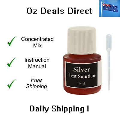 Silver Acid Testing Solution to Test for the Purity of 925 sterling & 800 tester