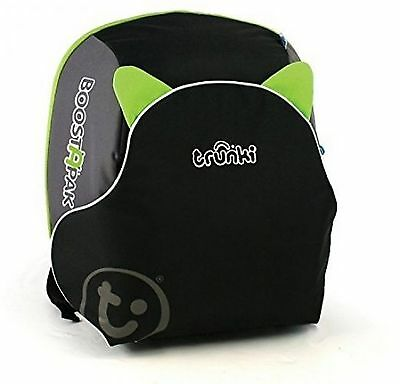 Trunki BoostApak Travel Backpack Child Booster Car Seat Baby Hand Luggage Green