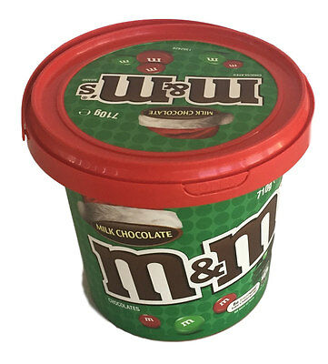 M&M'S CHRISTMAS MILK CHOCOLATE BUCKET 710g x 1 PARTY FAVOR M&M TUB X MAS FAVOR