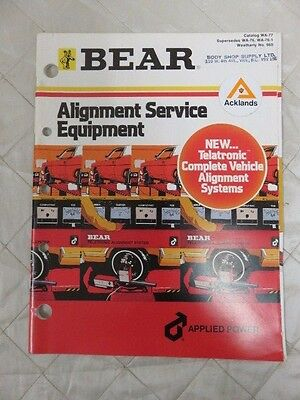 Bear Alignment Service Equipment Vintage Pamphlet
