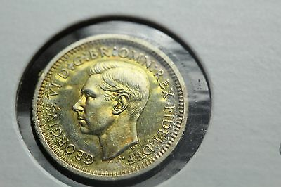 1951 Great Britain 3 Pence Silver Maundy  (RR232)
