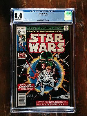 Star Wars #1 CGC 8.0 - Original 1977 Beauty!  Rogue One Coming Soon! *New Case*