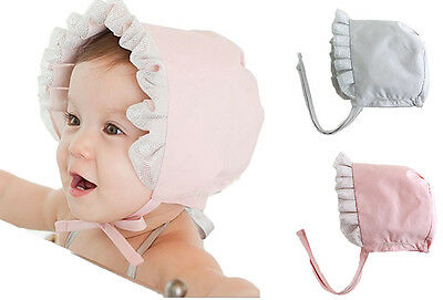 5b321bc3582 Infant Baby Girl Newborn Kids Lace Bucket Hat Cap Beanie Bonnet Accessories  Hats