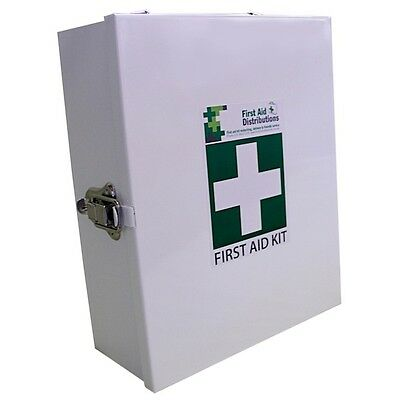 Empty Small Metal First Aid Cabinet in White