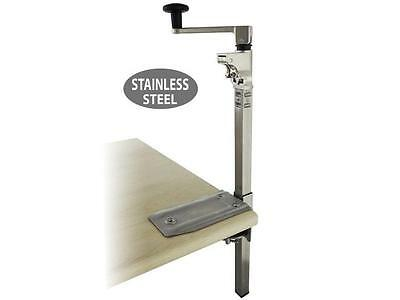 "Can Opener Commercial Heavy Duty Restaurant Large 19"" Stainless Steel Bar  Base"