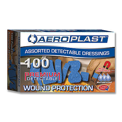 Detectable Assorted Plasters Aeroplast 100pkt in Blue