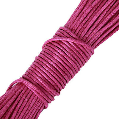 50m Waxed Cotton Necklace Thread String For Jewelry Pendants Making 1mm Pink